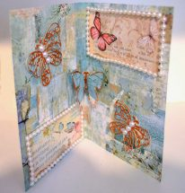 Stamperia Wonderland journal page with pop-up butterfly