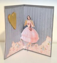 The Chrysanthemum Pop-up Card with Ballerina